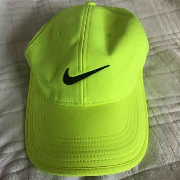 NIKE neon yellow hat!